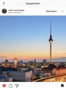 Screenshot eines Instagram-Fotos von Robin Oelschlegel.